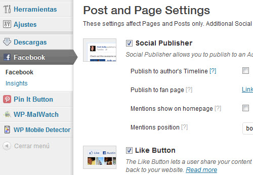 MD - Facebook plugin Wordpress - Marketing Digital