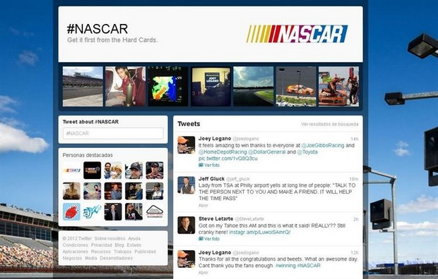MD Blog MD - Twitter estrenó su primera Hashtag Event Page. Redes Sociales  twitter tweet social media blog retweet Redes Sociales page NASCAR MD marketing online hashtag page hashtag favorito evento event blog marketing digital