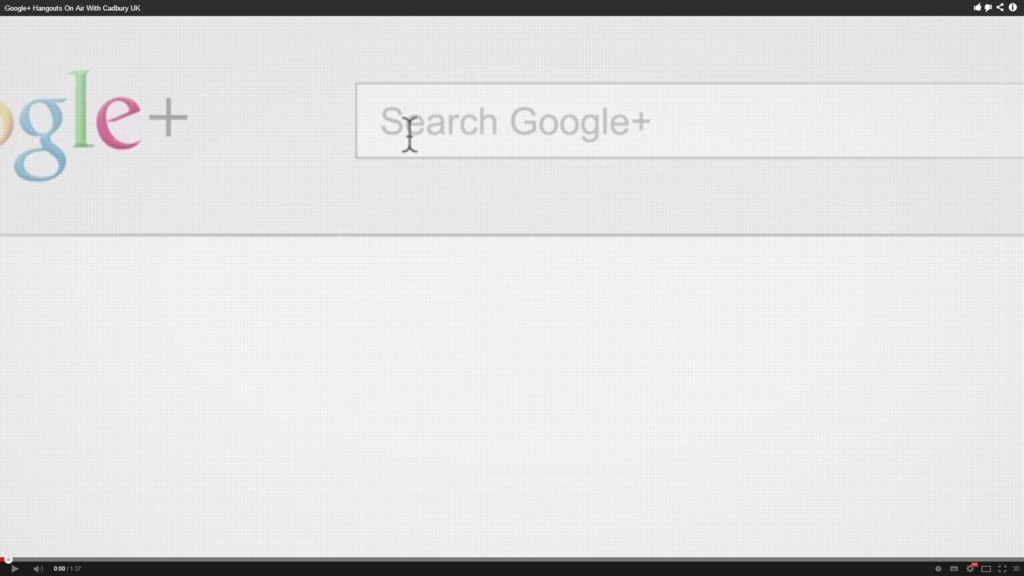 Cadbury en Google+ Hangouts