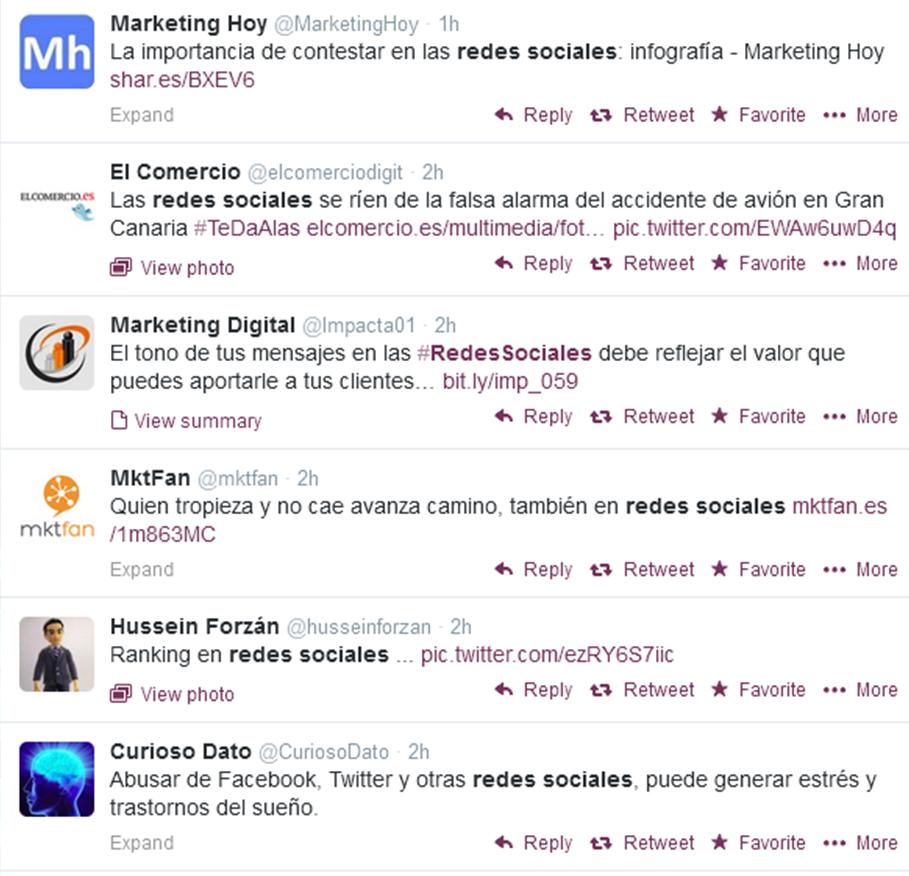 Busquedas en Twitter