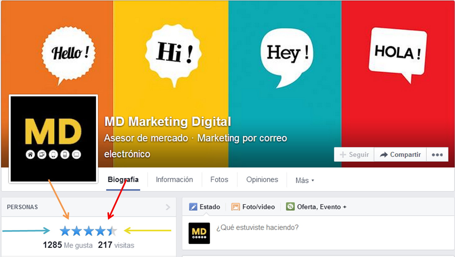 MD Blog Reseñas de Facebook: ¿Qué son, para qué sirven y cómo las coloco? Primeros Pasos Social Media  marketing online Facebook estrategia Digital - Social Media