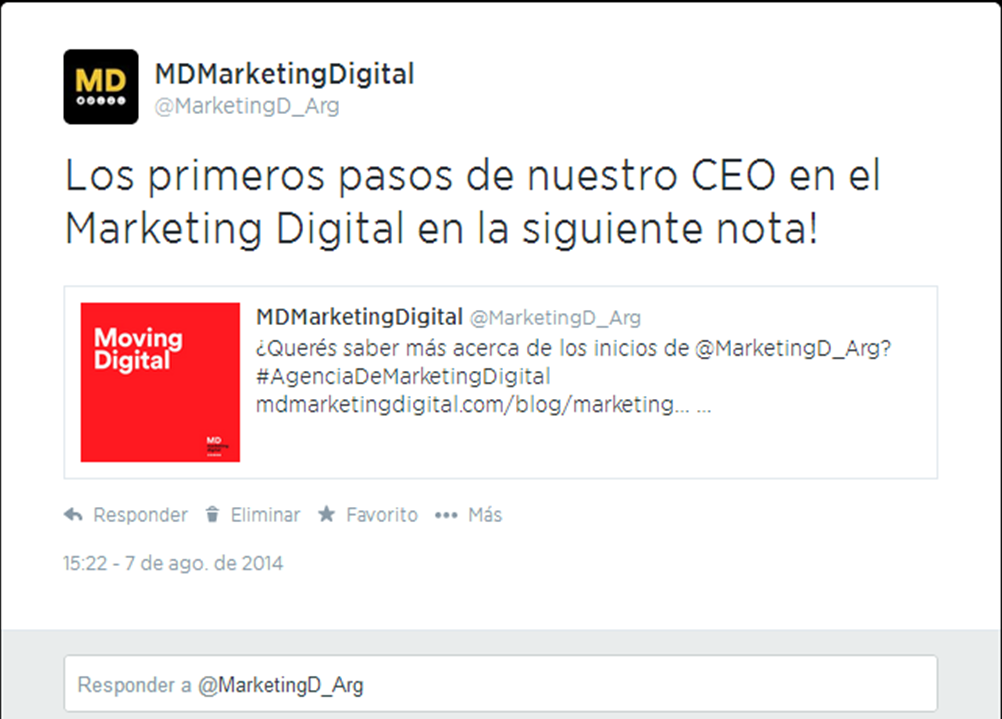 MD Blog ¿Cómo embeber un tweet? Primeros Pasos Social Media  twitter Redes Sociales marketing online - Social Media