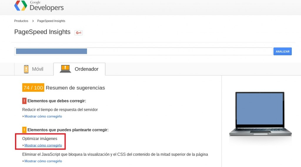 PageSpeed Tools Antes