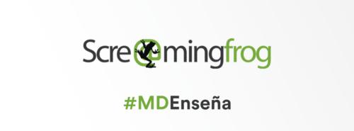 MD Blog #MDenseña - Screaming Frog SEO Spider Tool Marketing Digital Marketing Online Primeros Pasos SEO SEO / SEM  SEO Screaming Frog MD marketing digital Herramientas SEO #MDenseña