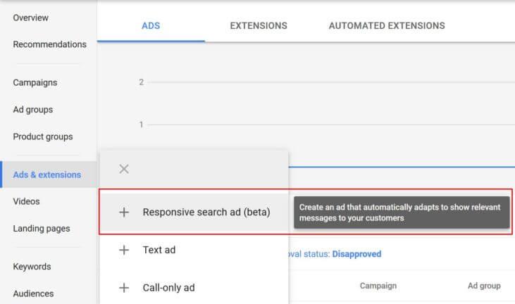 Anuncios de búsqueda responsive