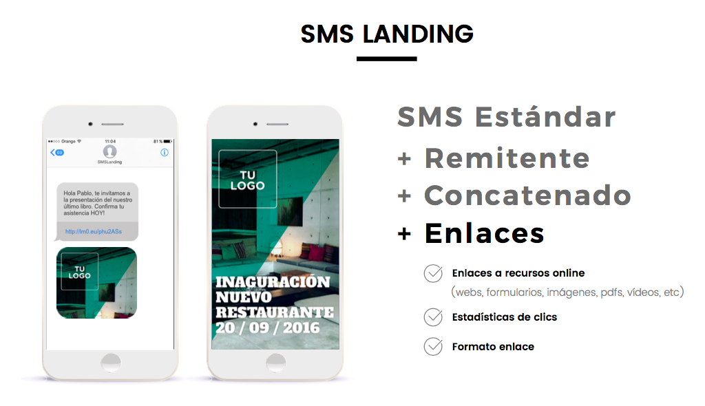 sms landing